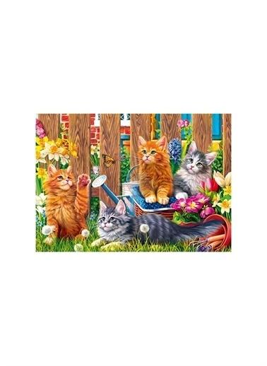 Art Puzzle Art Puzzle Kittens In The Garden 500 Parça Puzzle  Renksiz